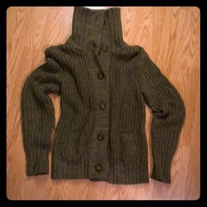 Olive Green Cardigan Sweater